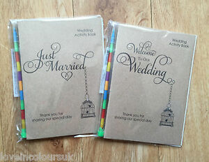 Wedding Gifts For Child : ... Wedding Activity Pack for Children, Kids Colouring Book, Favour/Gift