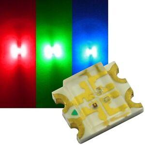 50 RGB SMD LEDs 1206 / mini Led 3-Chip rot-grün-blau STEUERBAR Smds MULTICOLOR