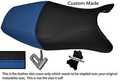 BLUE & BLACK CUSTOM FITS HONDA CBR 1100 XX SUPER BLACKBIRD 96-07 SEAT COVER