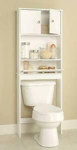 over the toilet bathroom spacesaver cabinet storage unit shelves