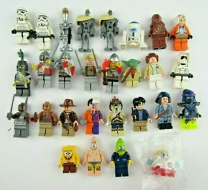 Mixed Lot of 28 Lego Minifigures Star Wars Harry Potter Others