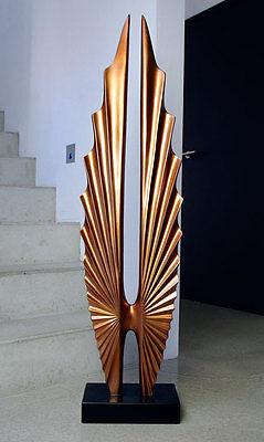 Wunderschöne Riesengroße Skulptur in Rosengold, Höhe 115 cm oder 190 cm möglich
