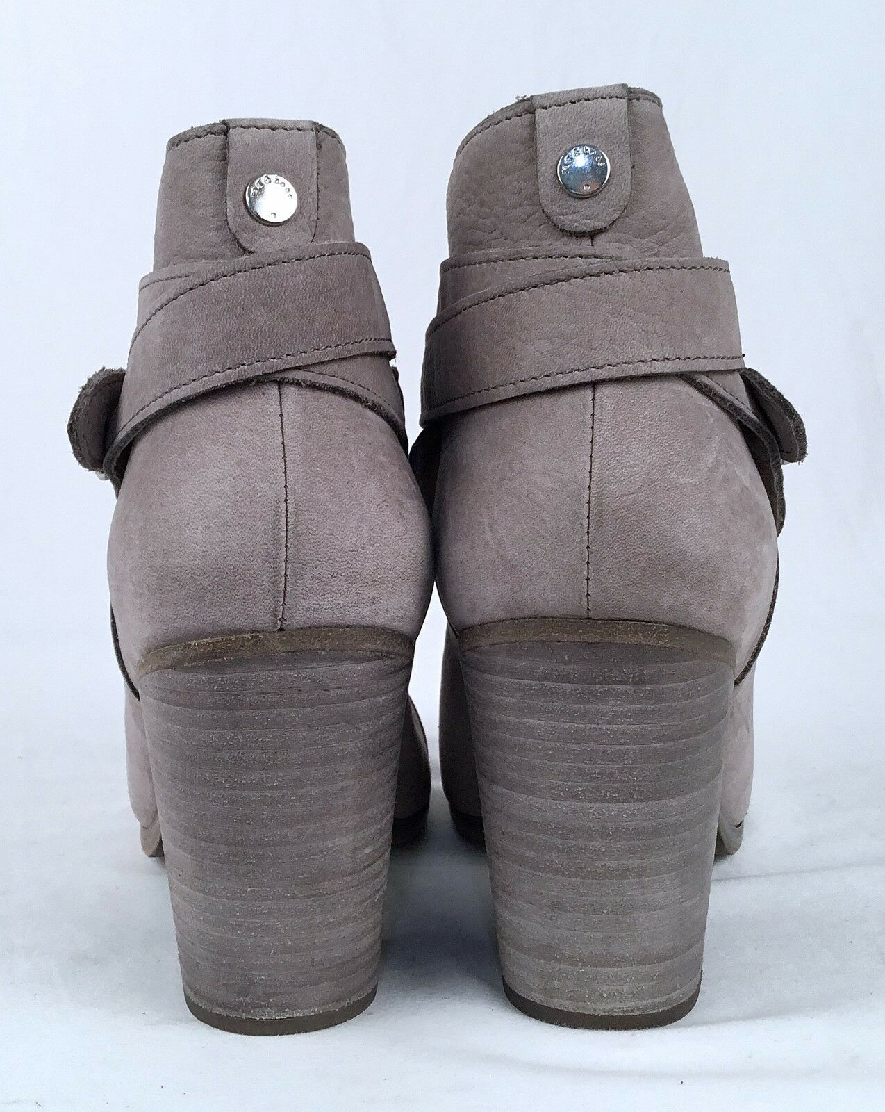 Rag Rag Rag & bone -'Harrow' Bootie- Grey - Nubuck- Size US 10.5  41 EU - 550  (P37) b6023a