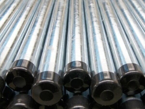 Poteaux de Clôture Poste Tubes ∅42mm 200cm Galvanisé 10 Pièces avec Couvercle