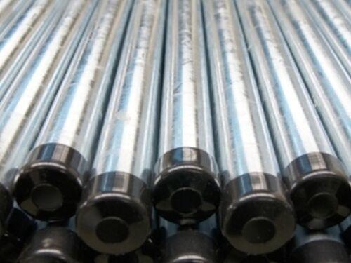 avec cache top! Piquets de clôture poteaux Tube ∅ 42 mm 175 cm galvanisé 10 St