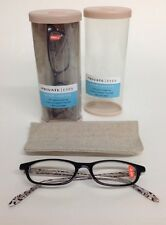 LOT OF 2 Private Eyes READING GLASSES +2.00 Hand Crafted Frames w/case #pehr2a