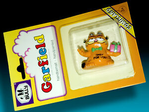 Garfield-BULLY-Comicland-1978-Blister-Pack-Boxed-Motif-Present-gt-Hand-Painted
