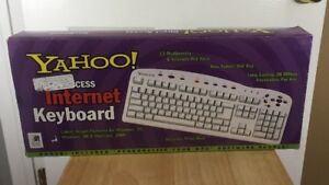 Yahoo! Direct Access Internet Keyboard Vintage 1999 New In Original Box