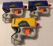 Lot 3 Nerf N-Strike Reflex Single Shot Soft Dart Gun Small Hand Held
