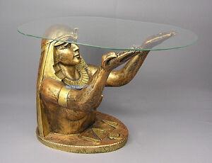 Das Bild Wird Geladen AGYPTISCHER TISCH WOHNZIMMERTISCH COUCHTISCH Nofretete FIGUR FRAU EROTIK