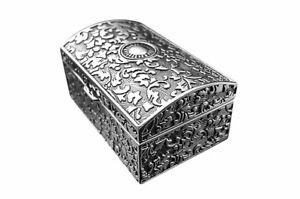 Boite-a-Bijoux-Antique-Argente-Boites-a-Bijoux-Bague-en-Metal