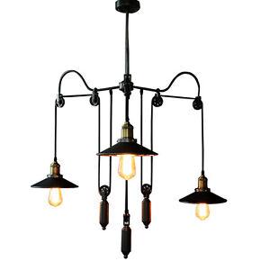 Image Is Loading Adjustable Wire Vintage Loft Retractable Pendant Lights  Lamp