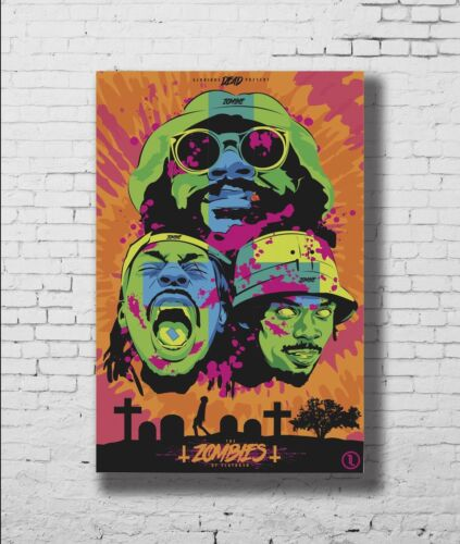 P-433 Art Flatbush Zombies American Hip Hop Group LW-Canvas Poster 21 24x36in