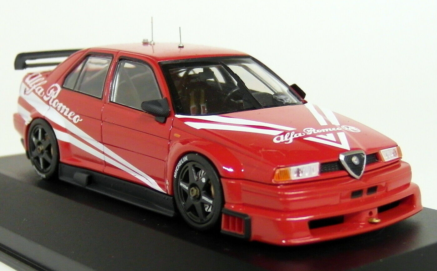 Hpi 1 43 Scale 8080 Alfa Romeo 155 V6 TI Plain Red Touring car Diecast Model Car