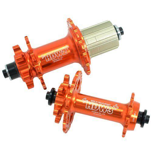Circus Monkey HDW concentradores de disco para bicicleta de montaña, agujero de 32, 1 Par, Naranja