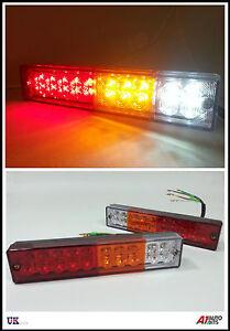 PAIR-12V-LED-REAR-TAIL-LIGHTS-LAMP-4-FUNCTION-TRAILER-CARAVAN-TRUCK-LORRY-20-LED