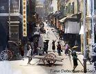 A Street Scene in Hong Kong, China - 1895 - Historic Photo Print