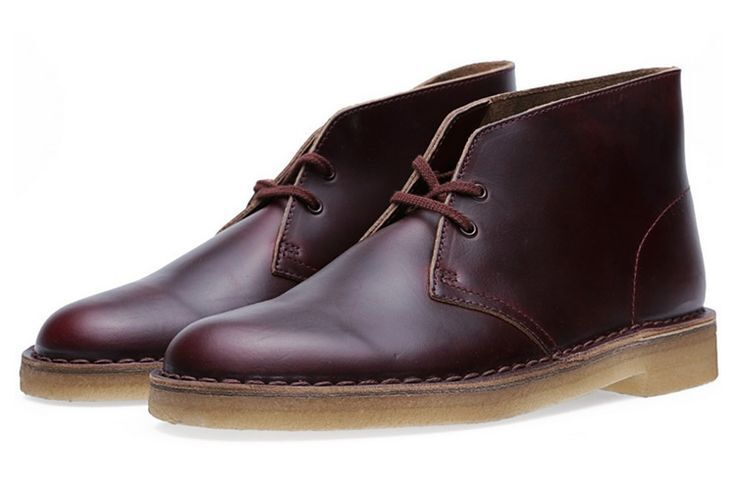 Clarks Original ** X DESERT  BOOTS ** BURGUNDY HORWEEN 6 LEATHER **  UK 6 HORWEEN bd1d6b