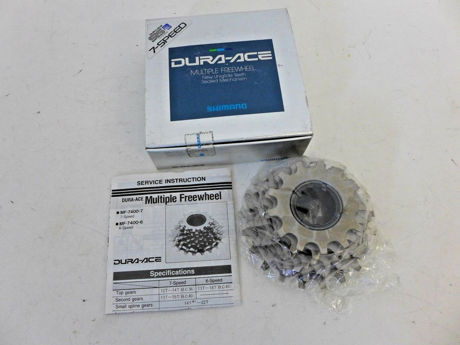 Shimano DuraAce  7sp 13-21 freewheel  new in box, uniglide 7400 SIS compatible  for your style of play at the cheapest prices