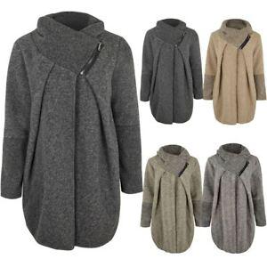images officielles vente en ligne grande remise Détails sur Pour femme cardigan pull à col tortue Wrap hiver chaud manteau  veste laine taille- afficher le titre d'origine