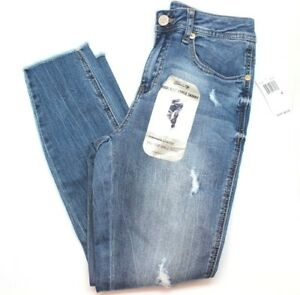 97714673050 Image is loading Seven7-Womens-Molokai-Distressed-Ankle-Skinny-Jeans-Blue-