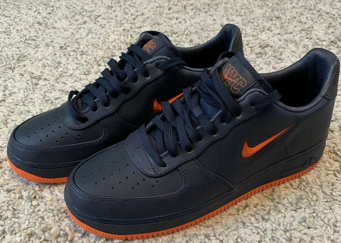 5e6fccd27bbd48 Nike Air Force 1 Low Retro PRM QS NYC FDNY Obsidian Orange Ao1635 ...