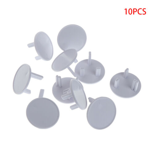 10Pcs UK Power Socket Outlet Mains Plug Cover Baby Child Safety Protector Guard