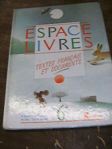 Details Sur Espace Livres Textes Francais Documents 6e Nathan 1985 Manuel Scolaire