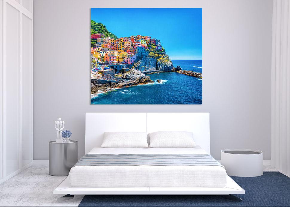 3D Malerisch Farbe Meer Haus 84 Fototapeten Wandbild BildTapete AJSTORE DE Lemon