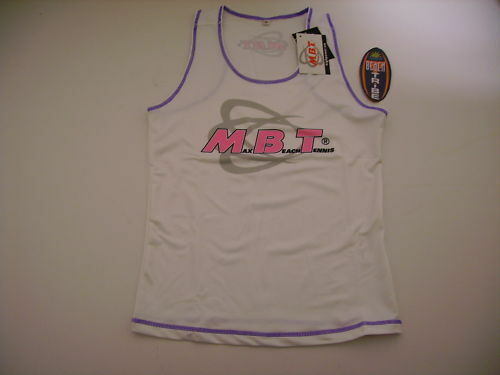 Mbt Max Beach Tennis Tank Top Sleeveless Beach Tennis Woman White purplec purple