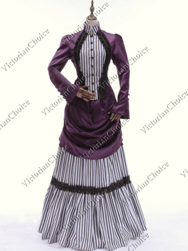 Old Fashioned Dresses | Old Dress Styles    Victorian Edwardian Steampunk Mary Poppins Bustle Dress Theatrical Gown 139  AT vintagedancer.com