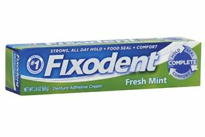 Fixodent Denture Adhesive Cream, Fresh Mint 2.40 oz (Pack of 2) 76660004658