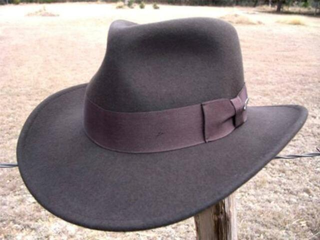 9224eea7 ... official store new authentic indiana jones harrison ford crushable fedora  movie promotion hat f76e3 25a27
