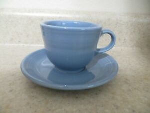 Fiestaware-Fiesta-Periwinkle-Blue-Tea-Cup-amp-Saucer-1989-2006
