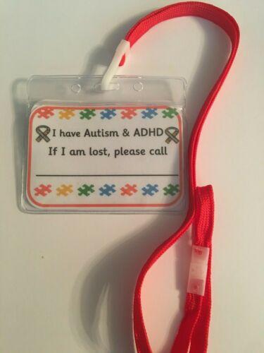 ASD ADHD AWARENESS safety Medical Lanyard Autism//ADHD//Aspergers//SEN