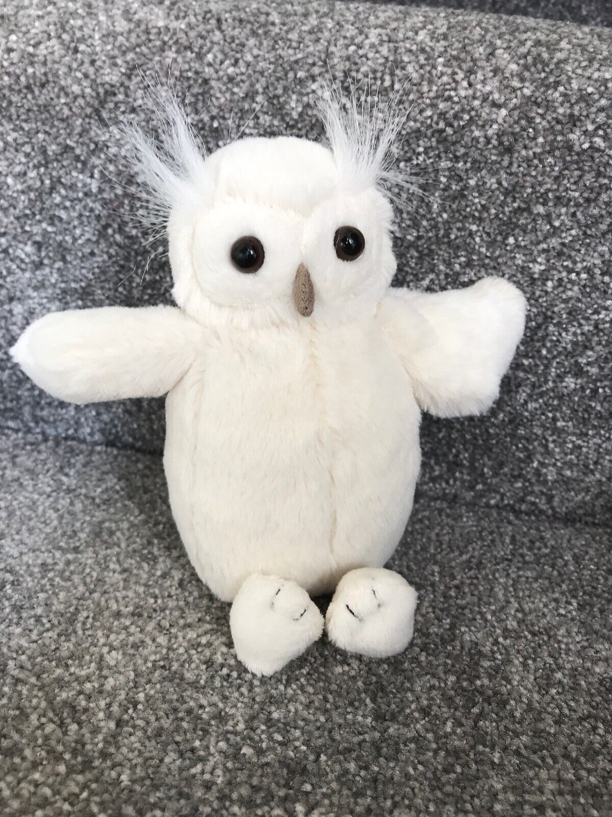 Jellycat Bashful Cream Owl Soft Plush Toy Vgc Retired 7  Small (18cm) Jelly1776