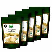 Ashwagandha Root Powder (indian Ginseng) 5lb(80 Oz) - Usda Certified Organic
