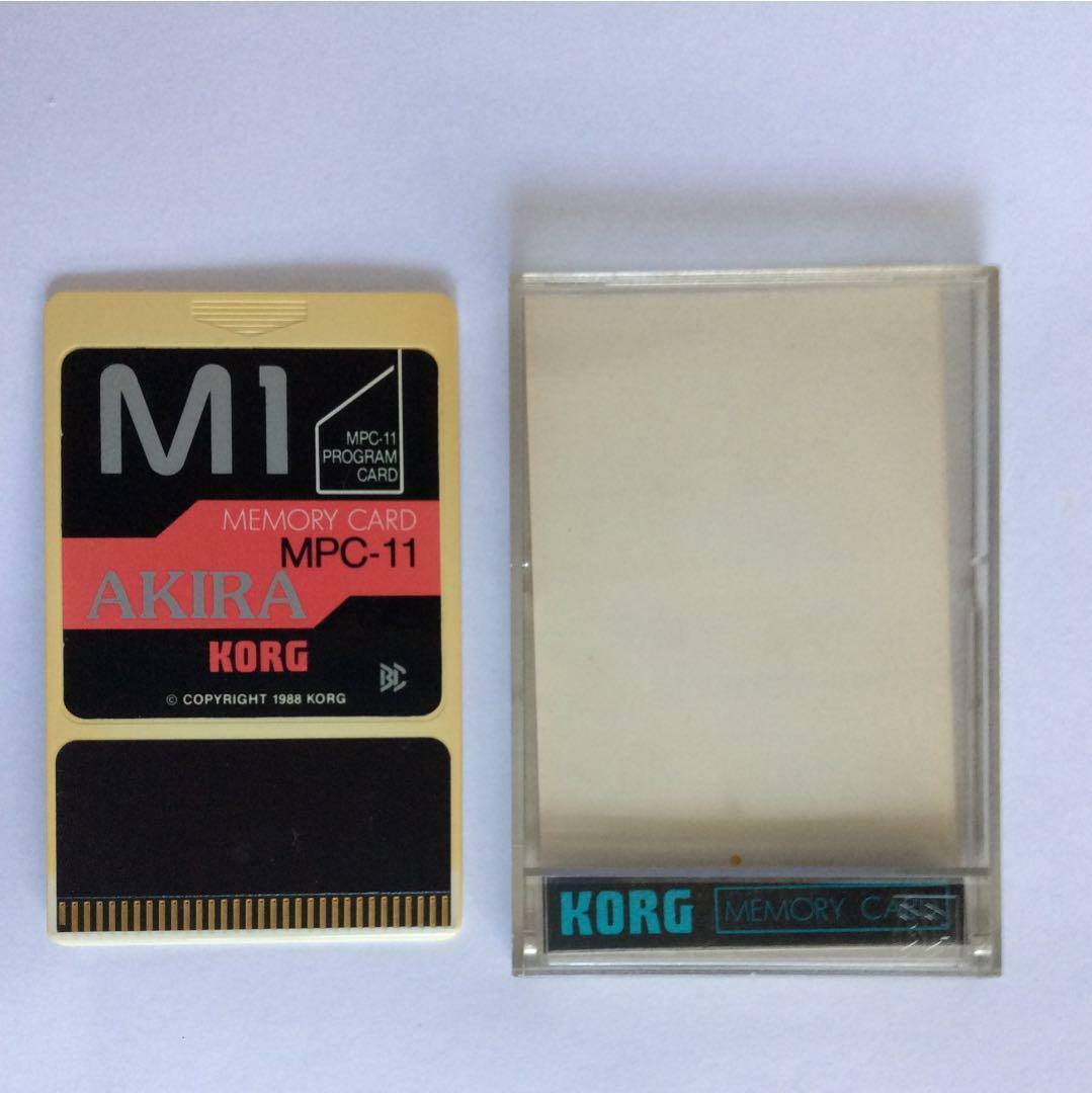 KORG M1 MPC-11 Programm-Karte AKIRA Speicherkarte Musik Workstation 1988