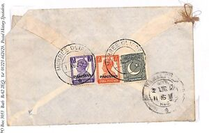 S273 1949 Pakistan Cover {samwells-covers}PTS