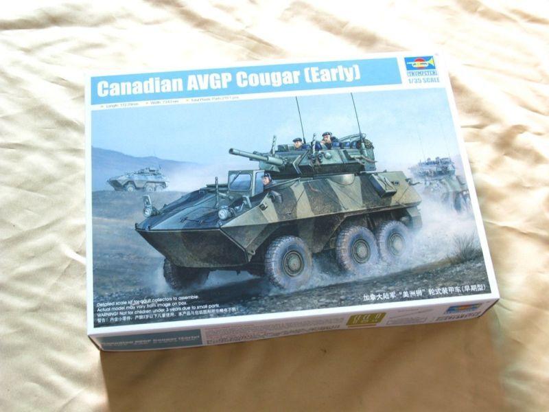 Trumpeter 01501 1 35 Static Model Canadian AVGP Cougar Roller Panzer Tank