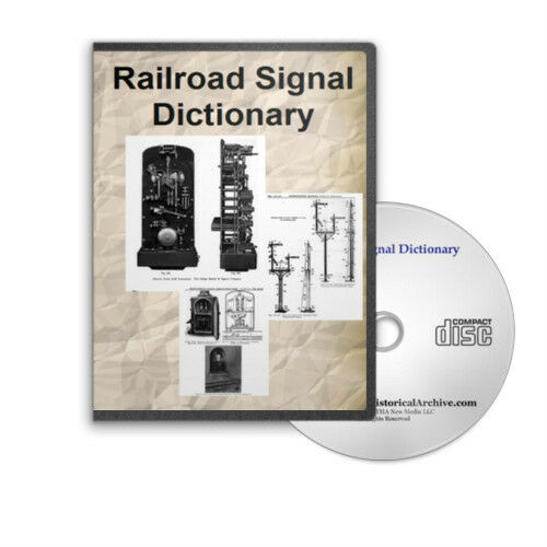 Railroad Signal Dictionary First and Second Editions Illustrated Train CD - D227