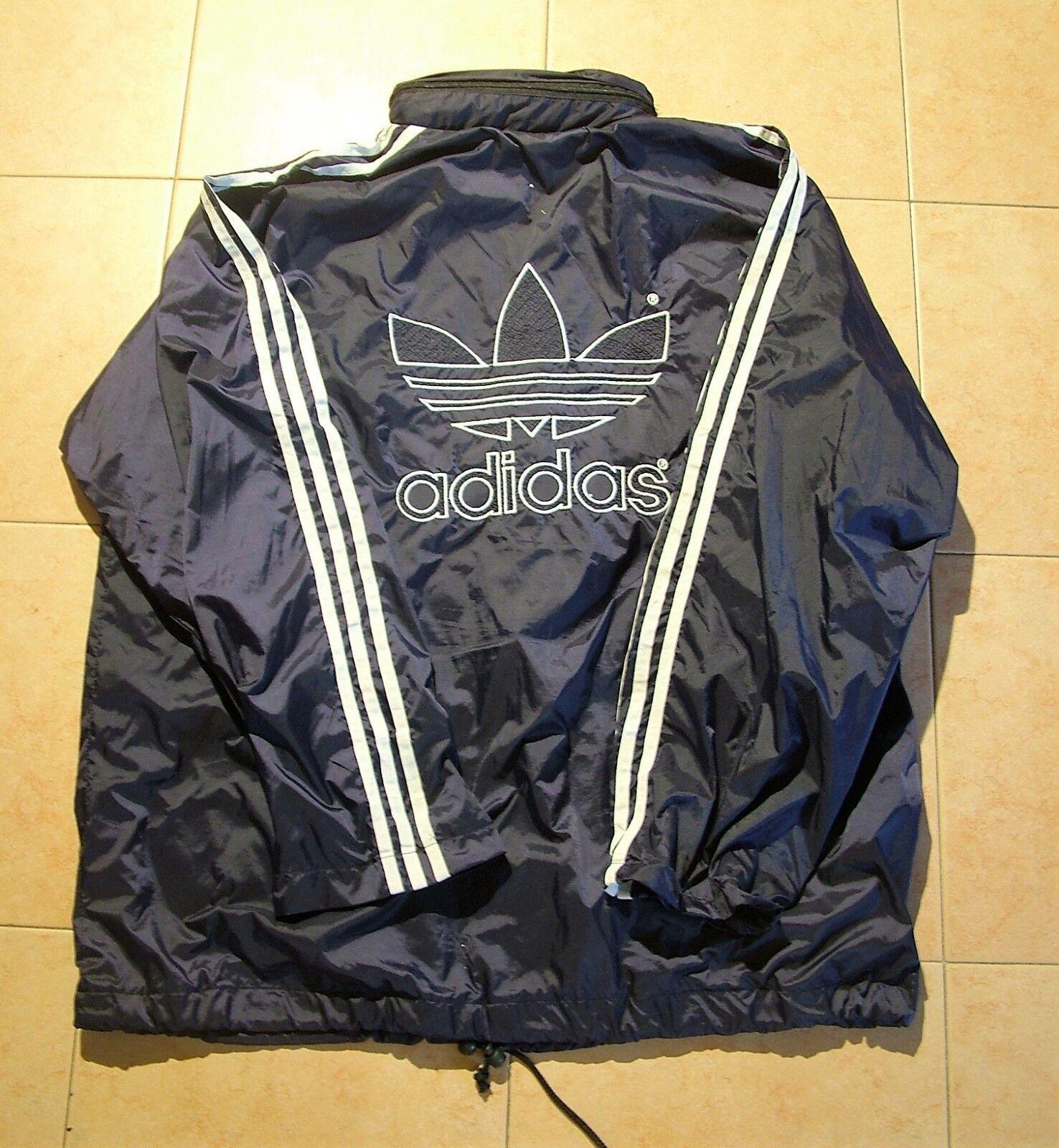ADIDAS giacca giubbino antipioggia blue trifoglio