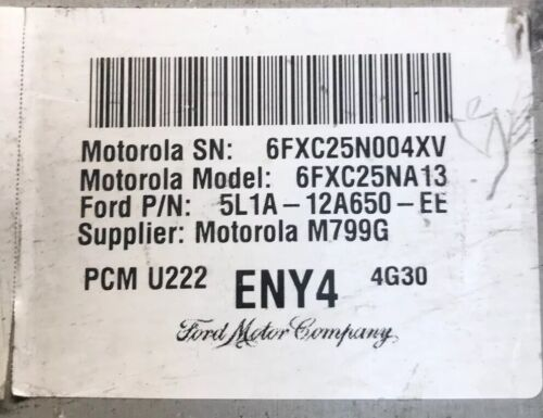 2005 2006 Ford Expedition 5.4 PCM ECM Engine Computer5L1A-12A650-EE #9706
