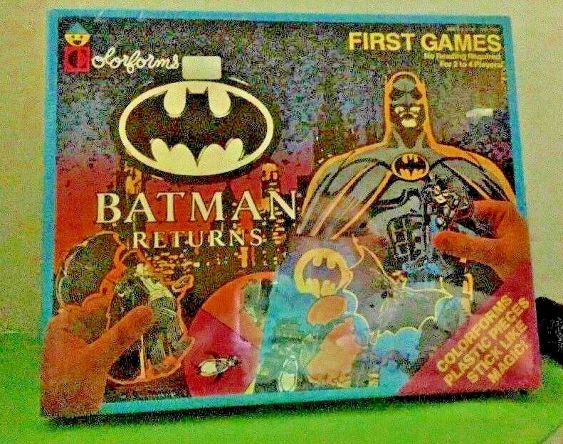 Batman Returns First Games colorforms Adventure Play Set Unused 1992 Vintage