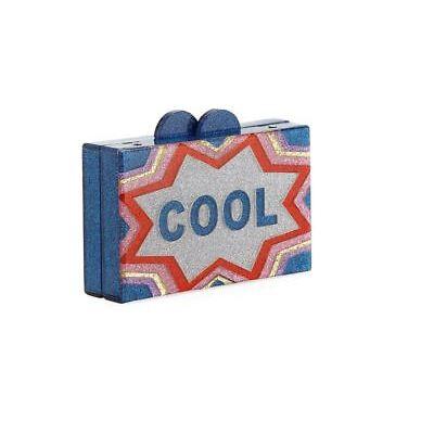 Brand new Girls' Bari Lynn  Crazy/Cool Glittered Acrylic Box Clutch Bag
