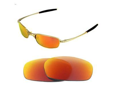 8c93809a3d NEW POLARIZED CUSTOM FIRE RED LENS FOR OAKLEY SQUARE WIRE 2.0 SUNGLASSES