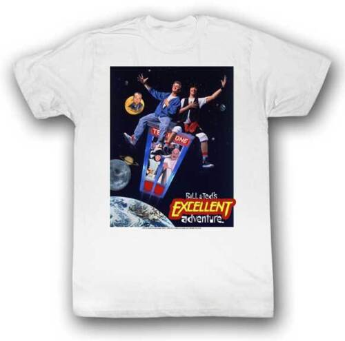 Bill /& Ted/'s Excellent Adventure Movie Poster Adult T Shirt