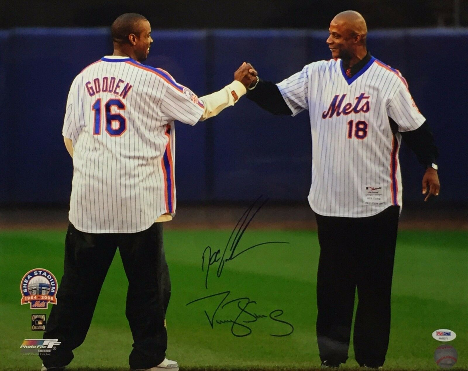 Dwight 'Doc' Gooden & Darryl Strawberry Signed New york Mets 16x20 Photo PSA