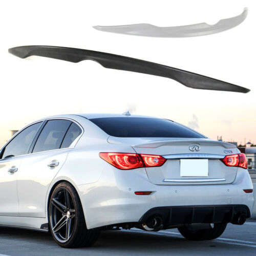 ABS Paint Color For INFINITI Q50 OE Type Rear Trunk Spoiler 4DR Sedan Sport