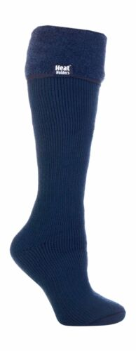 Womens Thick Knee High Thermal Rubber Wellington Tall Boot Socks Heat Holders